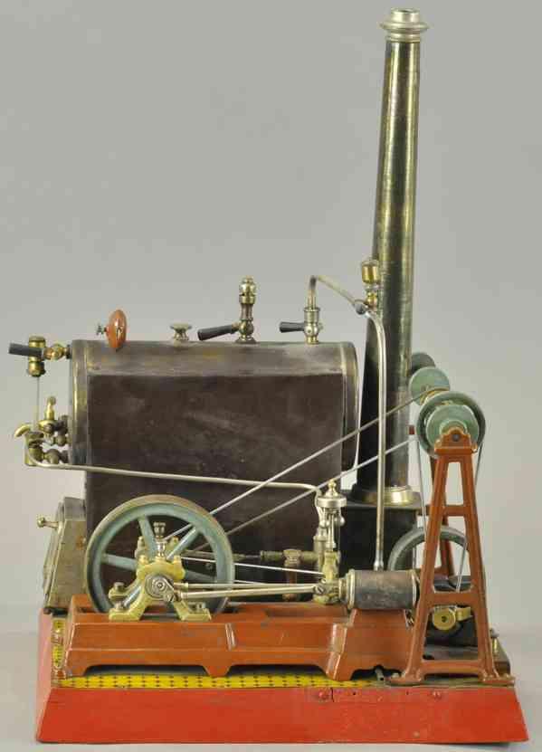 plank ernst dampfspielzeug liegende dampfmaschine