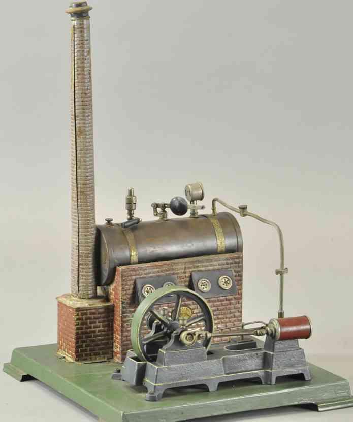plank ernst dampfspielzeug liegende dampfmaschine l