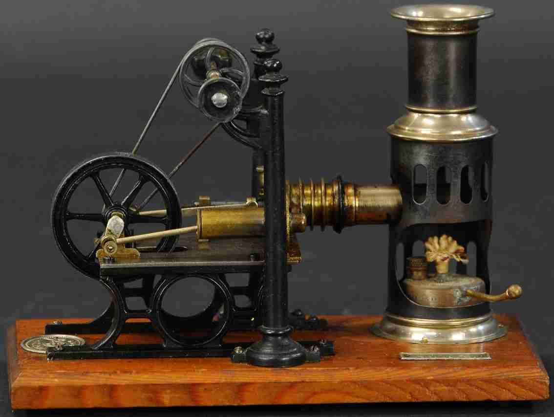plank ernst dampfspielzeug stehende noris-heissluftmotor anlage