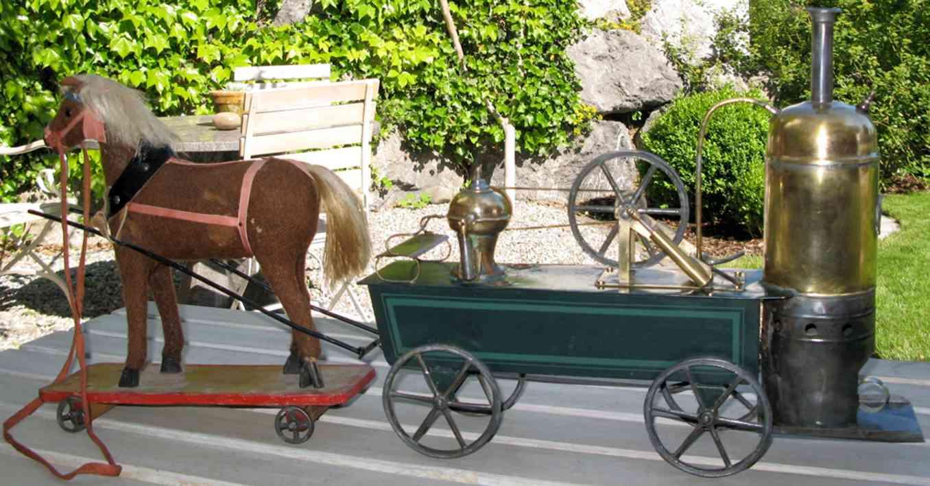 Plank Ernst Dampf-Feuerspritze mit Pferd und Deichsel