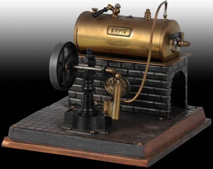 Plank Ernst 420 Liegende Dampfmaschine RAPID bock Motor