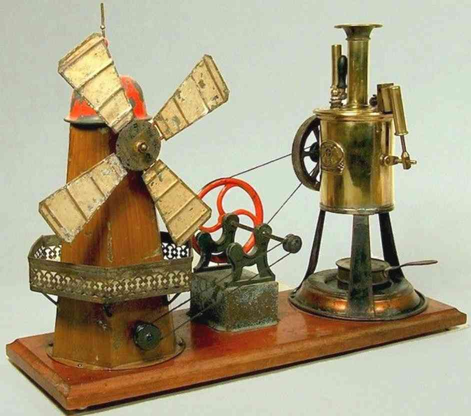 plank ernst dampfspielzeug stehende dampfmaschine mit windmuehle