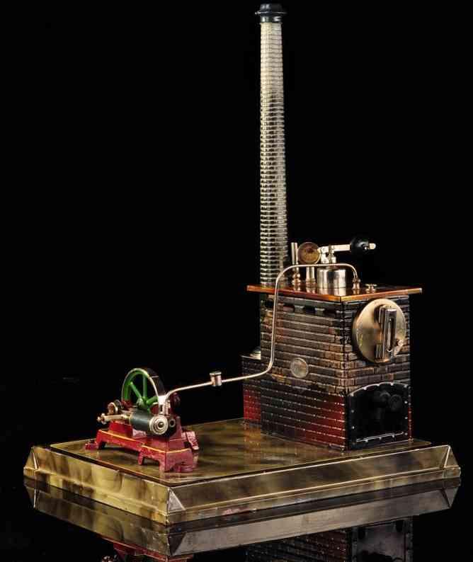 plank ernst dampfspielzeug liegende dampfmaschine liegende dampfmaschine