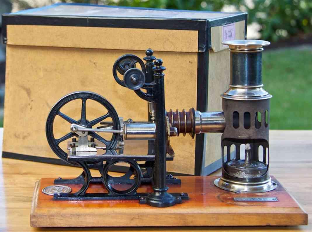 Plank Ernst 335 Liegende Heissluftmotor Dampfmaschine
