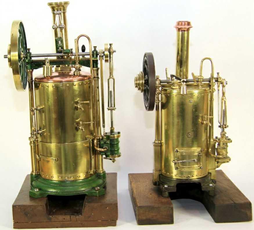 radiguet & massiot 1 dampfspielzeug stehende dampfmaschine stehender messing-kessel;  messing-armaturen, zylinder, bren