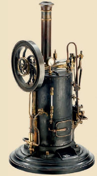 radiguet & massiot dampfspielzeug stehende dampfmaschine stehende dampfmaschine, kohlenbefeuert