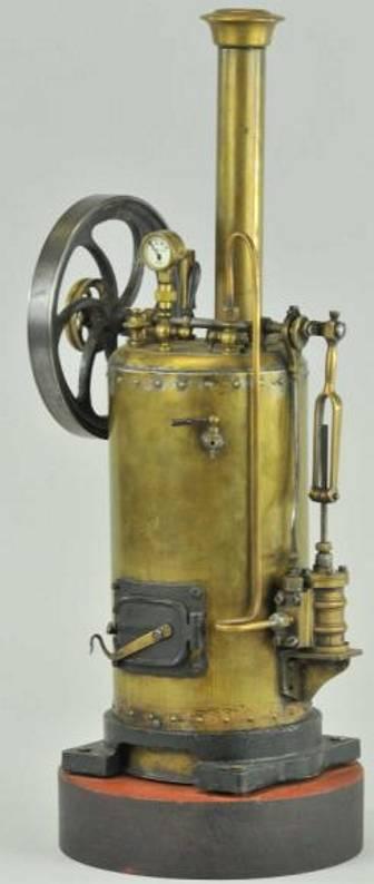 radiguet & massiot dampfspielzeug stehende dampfmaschine dampfmaschine mit messingkesselt, fester zylinder, kunstvoll