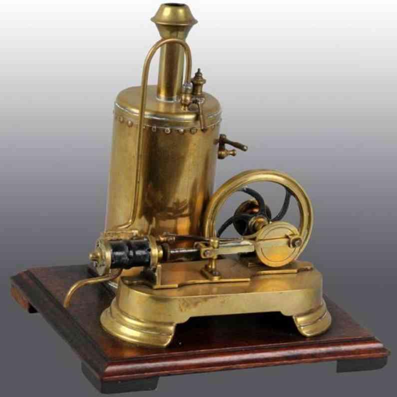 Radiguet & Massiot Stehende Messingdampfmaschine