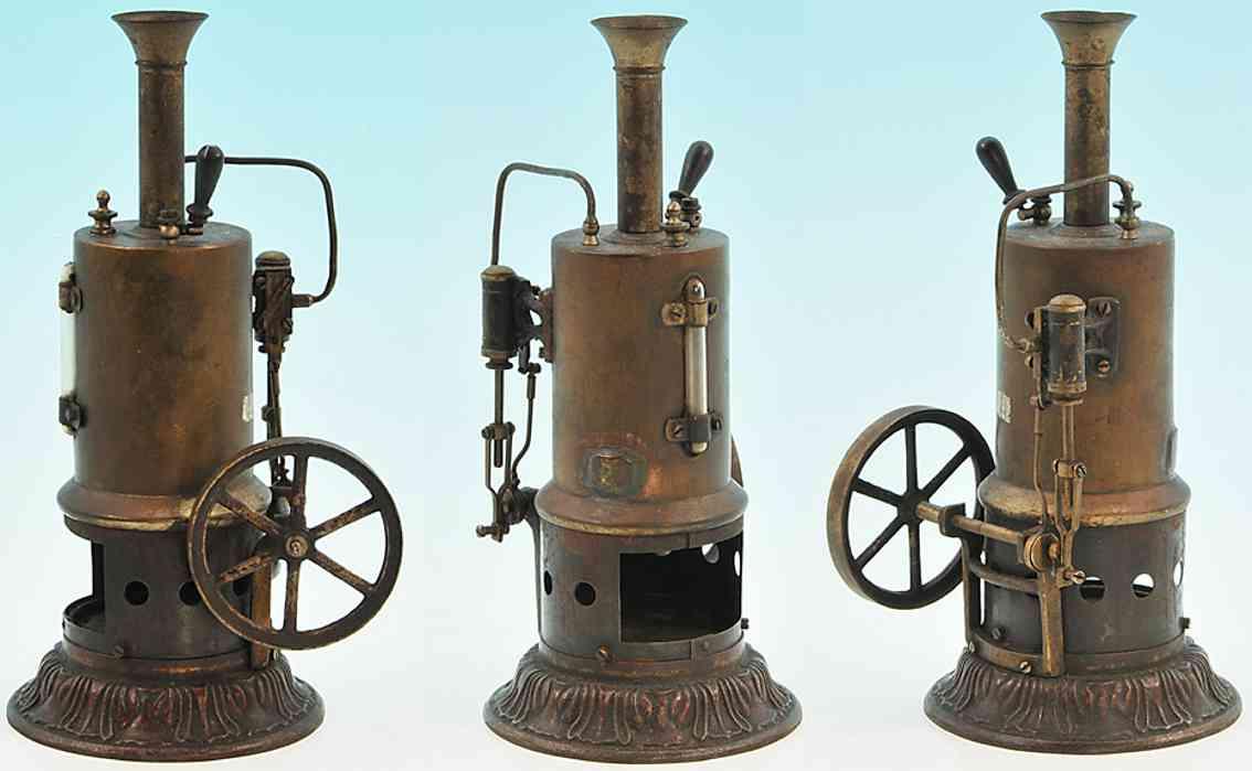 schoenner jean 101/2 dampfspielzeug stehende dampfmaschine stehende dampfmaschine mit 2 feststehenden zylindern mit fla