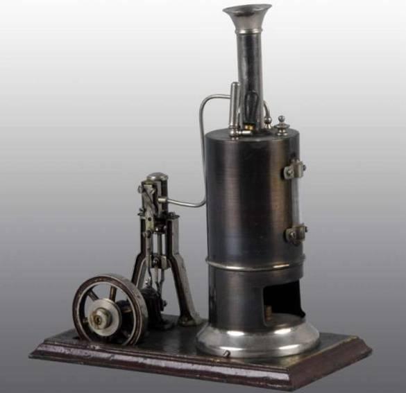 schoenner jean 106/2 dampfspielzeug stehende dampfmaschine dampfmaschine mit wasserglas, sicherheitsventil, pfeife, pol