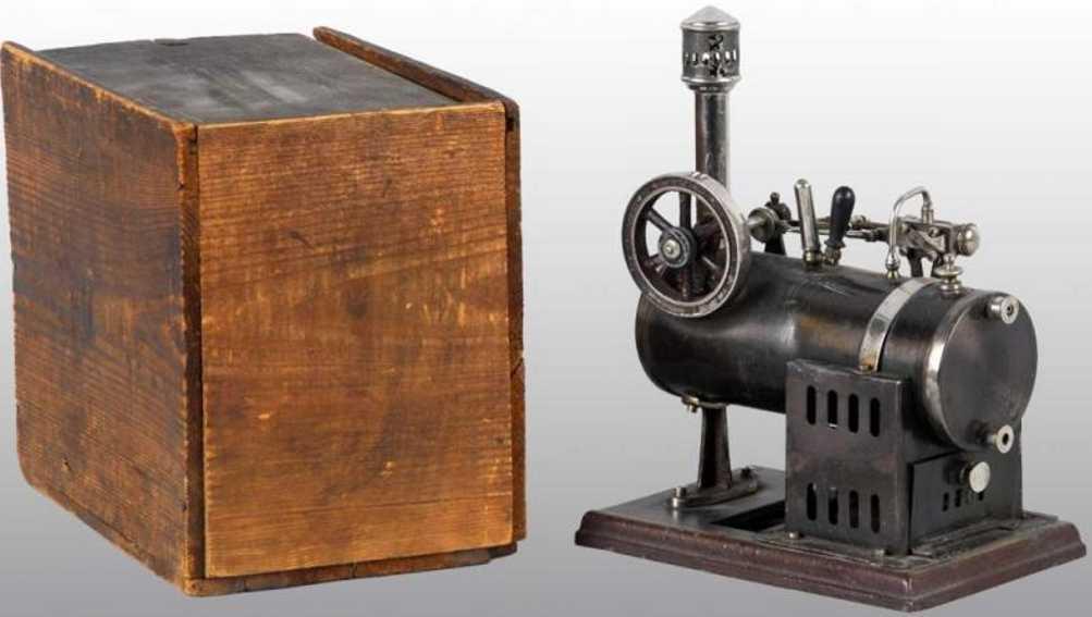 schoenner jean 107/1 dampfspielzeug liegende dampfmaschine