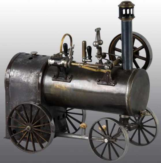 schoenner jean 108 dampfspielzeug fahrbare lokomobile fahrbare lokomobile mit einem bläulichem messingkessel, pfei