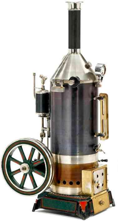 schoenner jean 165/65 dampfspielzeug stehende dampfmaschine stehende dampfmaschine mit speispumpe, ventilkontrolle, kess