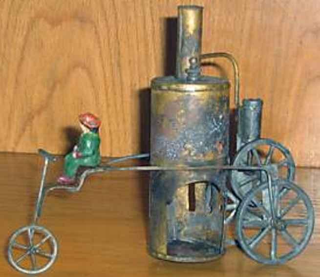 schoenner jean dampfspielzeug fahrbare lokomobile spiritusbetriebenes dampfdreirad, der schwungradantrieb erfo