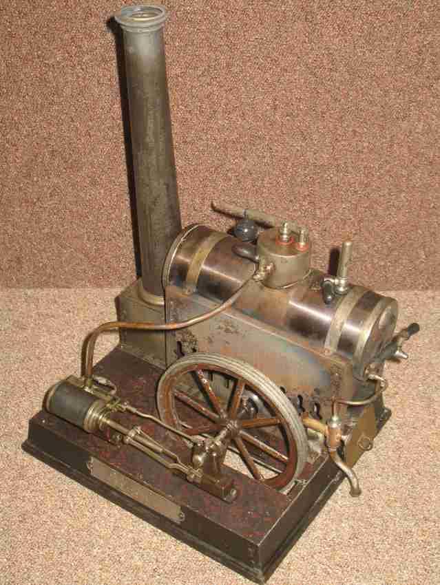 schoenner jean dampfspielzeug stationaere lokomobile lipsia-dampfmaschine