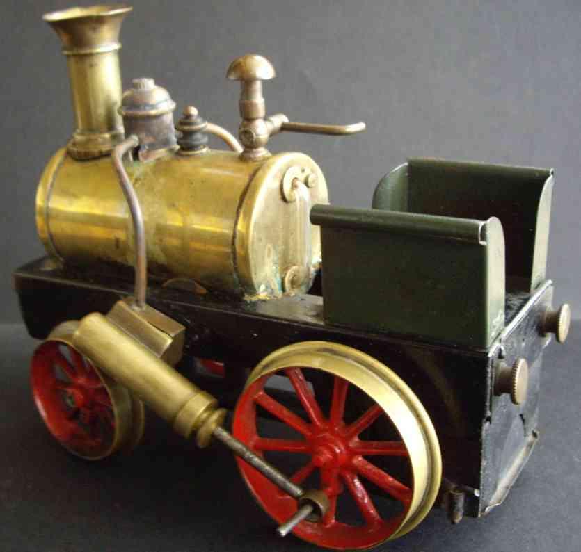 schoenner jean dampfspielzeug fahrbare lokomobile spirituslokomotive mit messingdampfkessel, wasserstandsanzei