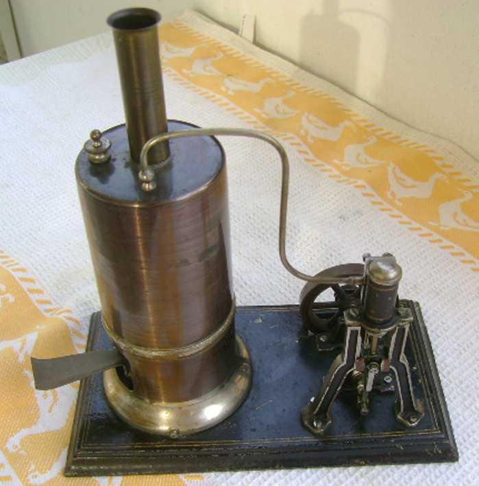 schoenner jean dampfspielzeug stehende dampfmaschine schiffsdampfmaschine mit gußeisernem boden, der kesseldurchm