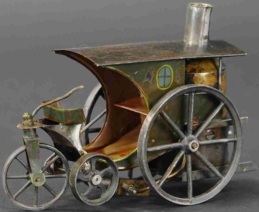 schoenner jean spielzeug fahrzeug echtdampf-dreirad mit senkrechtem kessel