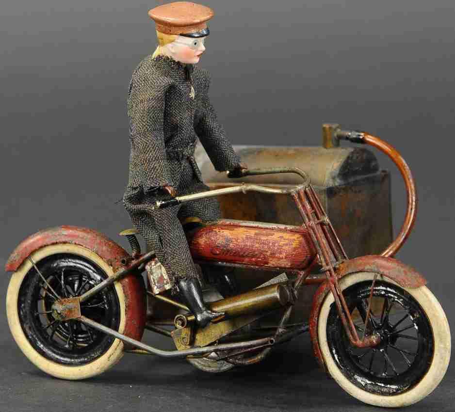 spielzeug echtdampf indian motorrad mit beiwagen und fahrer