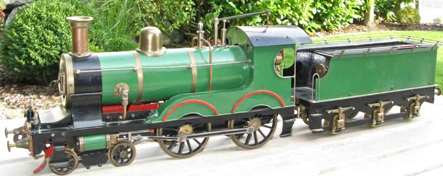 Echtdampf-Lokomotive mit Tender