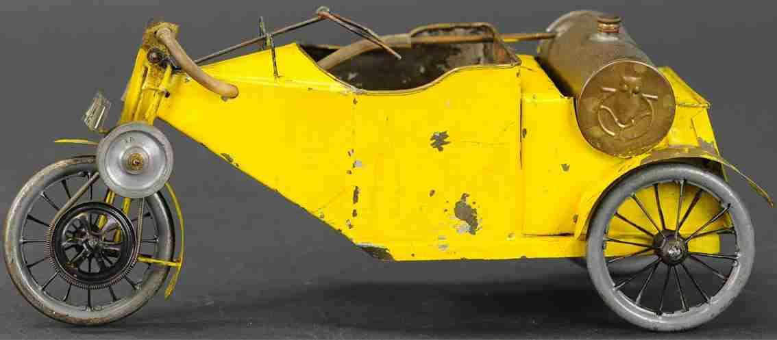 spielzeug fahrzeug echtdampf-motorrad mit drei raedern