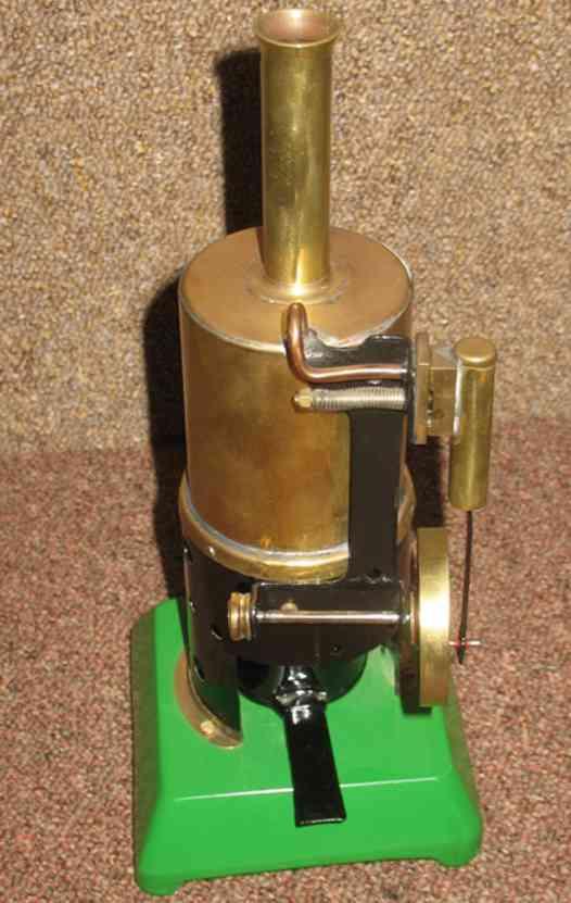 dampfspielzeug stehende dampfmaschine