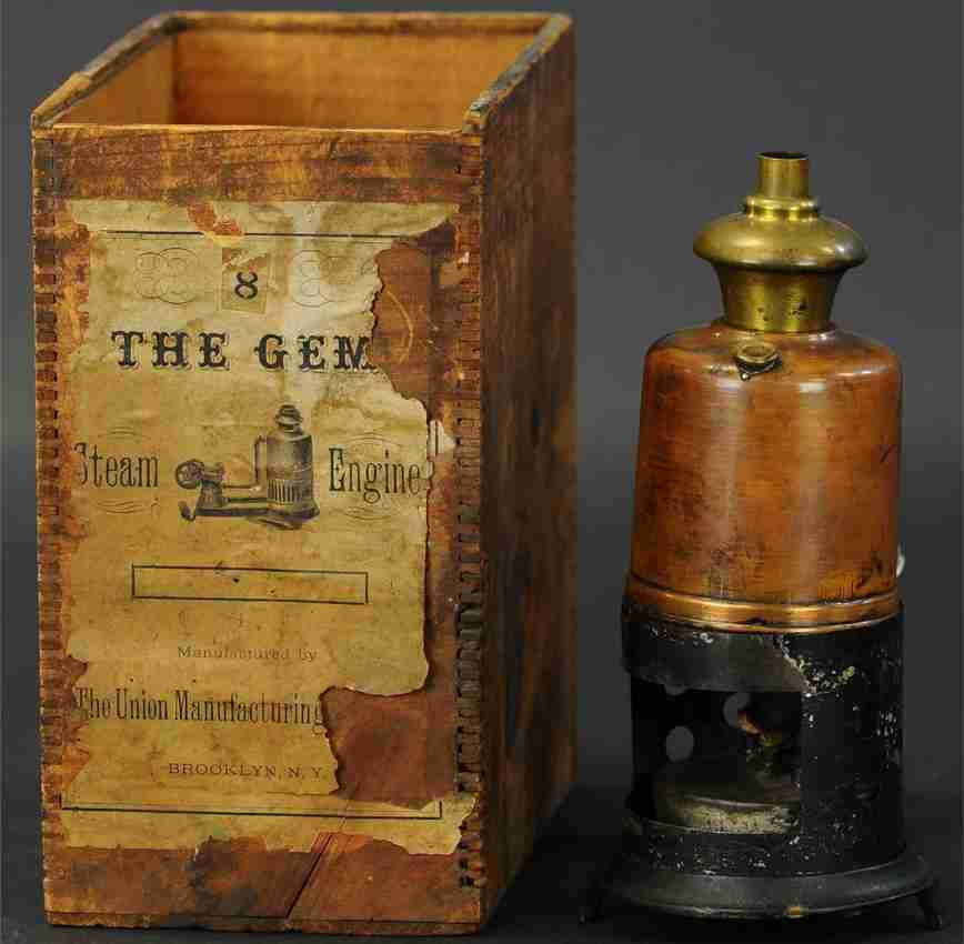 union manufacturing company 8 vertical steam toy the gem #8 steam plant