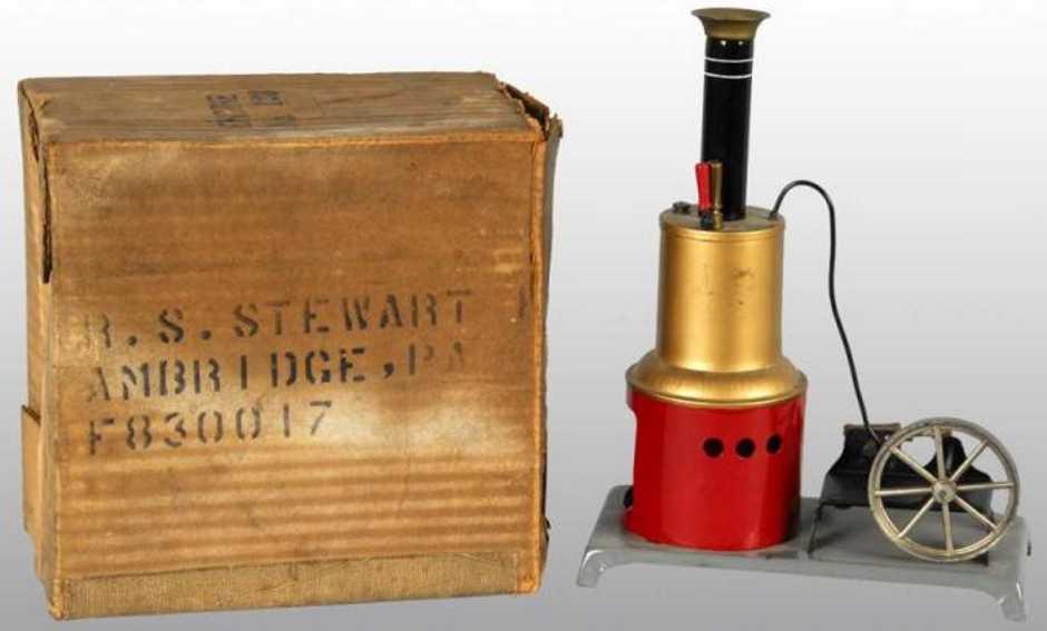 weeden 123 dampfspielzeug stehende dampfmaschine dampfmaschine mit originalverpackung, wurde damals für  $1,2