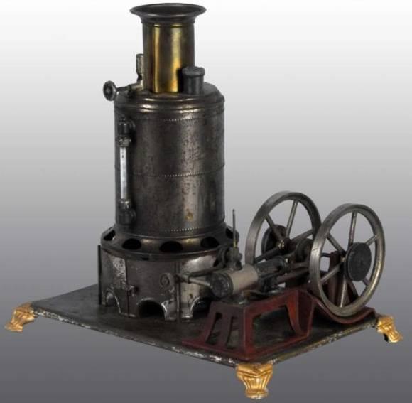 weeden 18 dampfspielzeug stehende dampfmaschine dampfmaschine auf plattform aus blech mit gußeisernen füßten