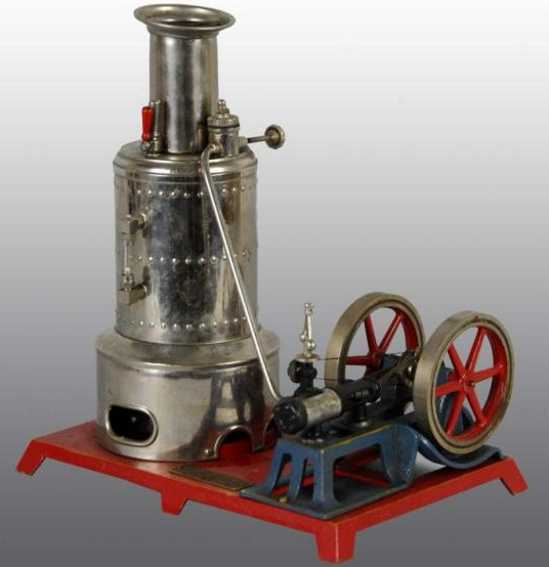 weeden 665 vertical steam toy electrically heated engine, this is the electrified version