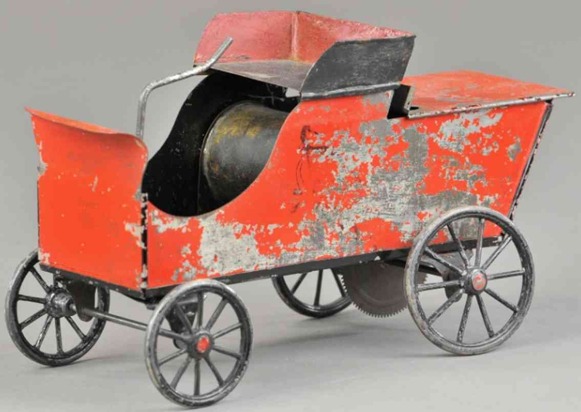 weeden toy live steam auto red carriage