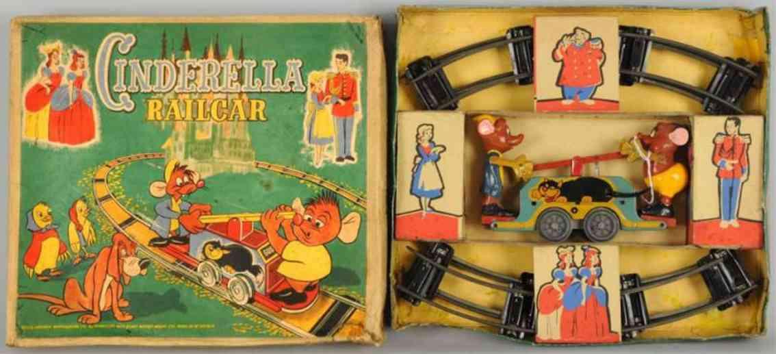 brimtoy railway toy draisine walt disney cinderella rail car