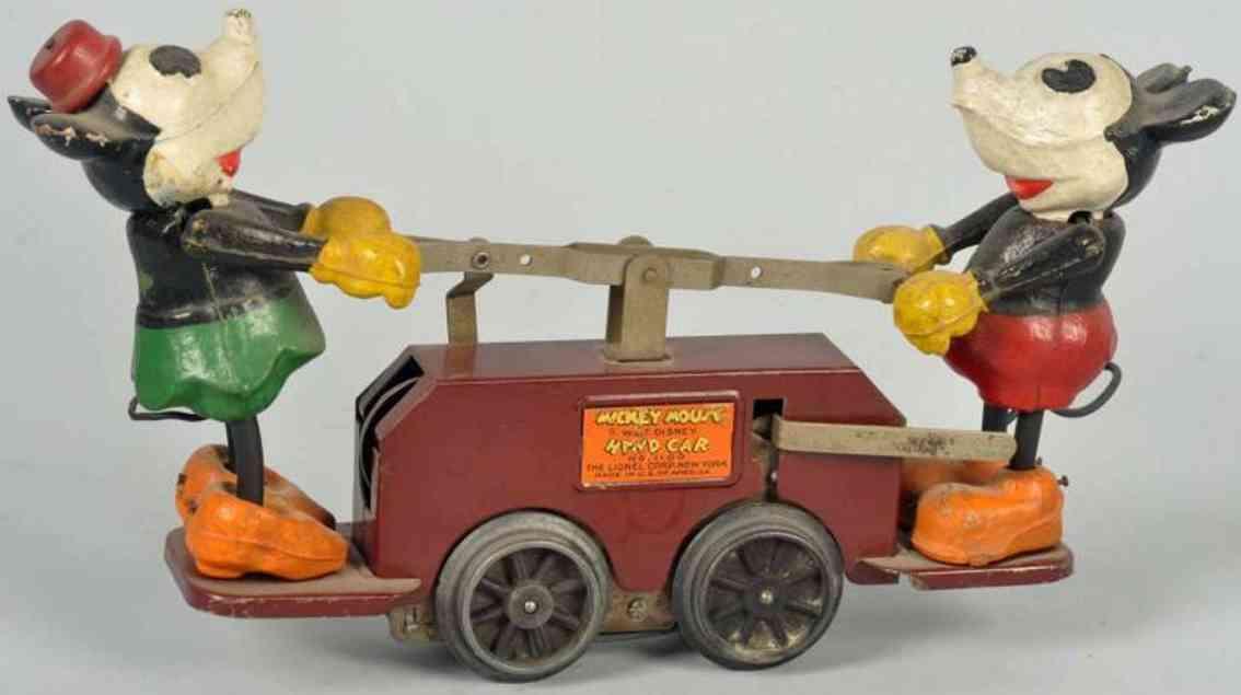 Lionel Walt Disney Mickey Mouse kastanienbrauner Handwagen