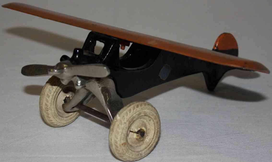 arcade 355 spielzeug gusseisen eindecker flugzeug