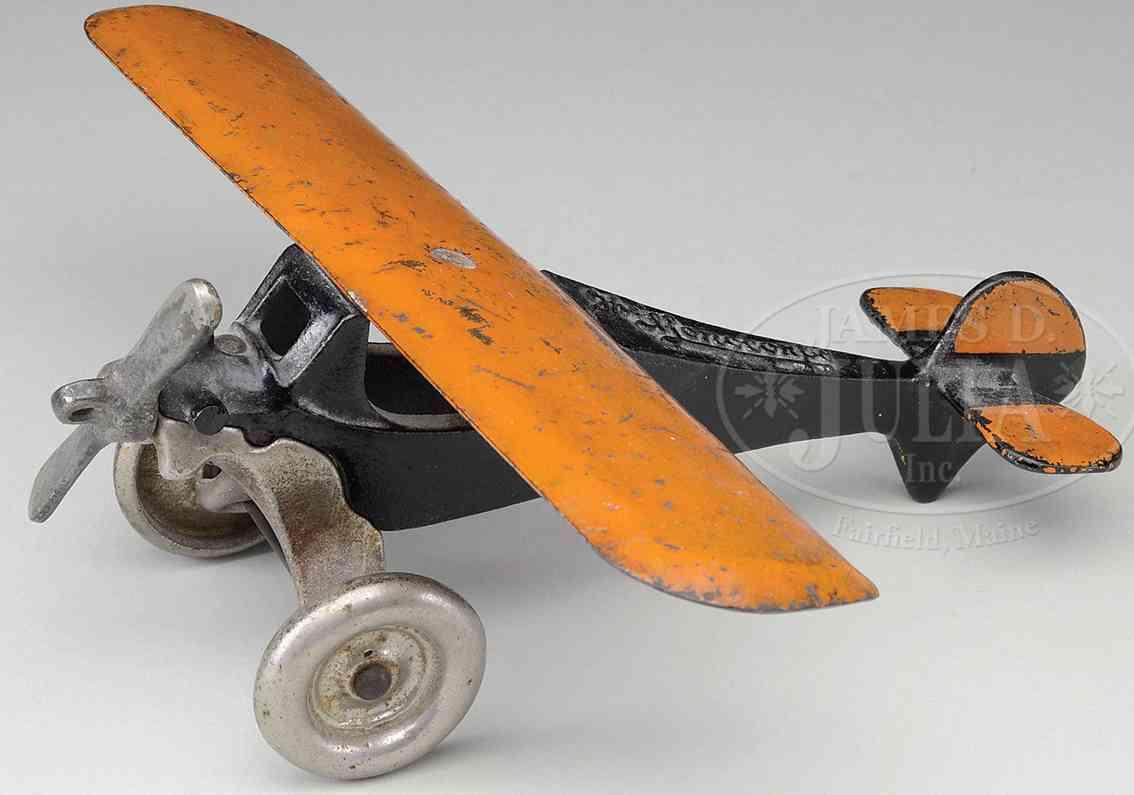 arcade 355 spielzeug gusseisen einmotoriges flugzeug