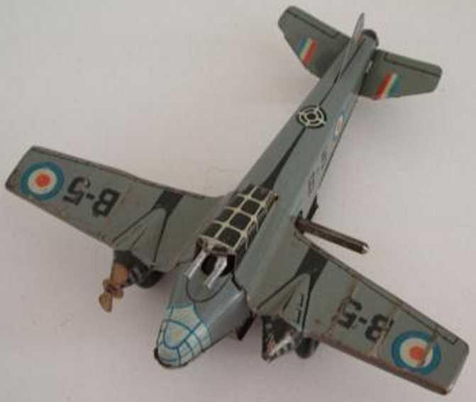 Arnold Blech-Bomber B5 mit Uhrwerk und MG