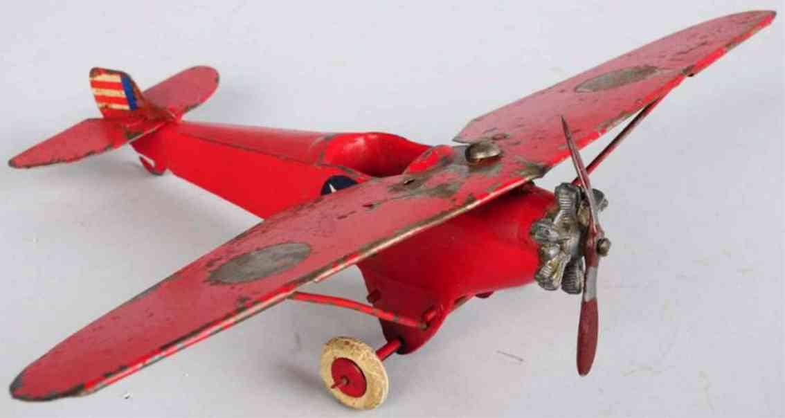britains ltd. toy flugzeug eindecker in rot aus druckguss