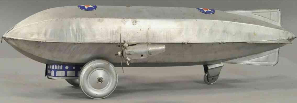 chein co blech spielzeug zeppelin mit zwei seitlichen propellern