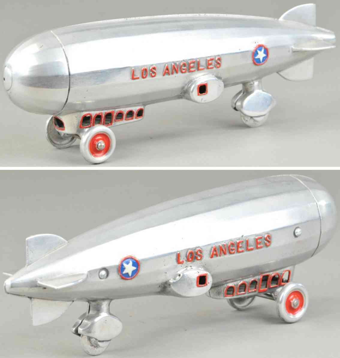 dent hardware co toy zeppelin los angeles dirigble aluminum