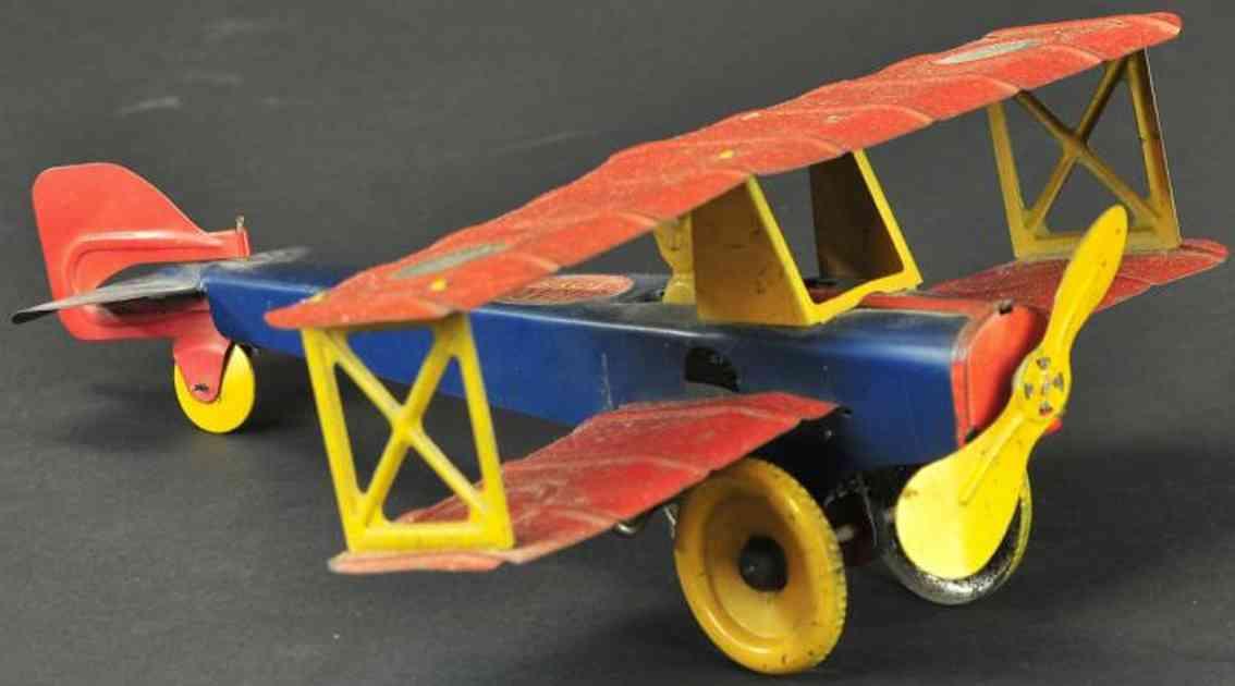 girard blech spielzeug luftpostflugzeug uhrwerk