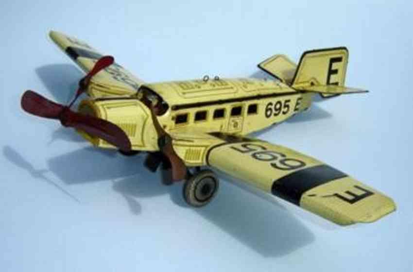 guenthermann 695e blech spielzeug flugzeug