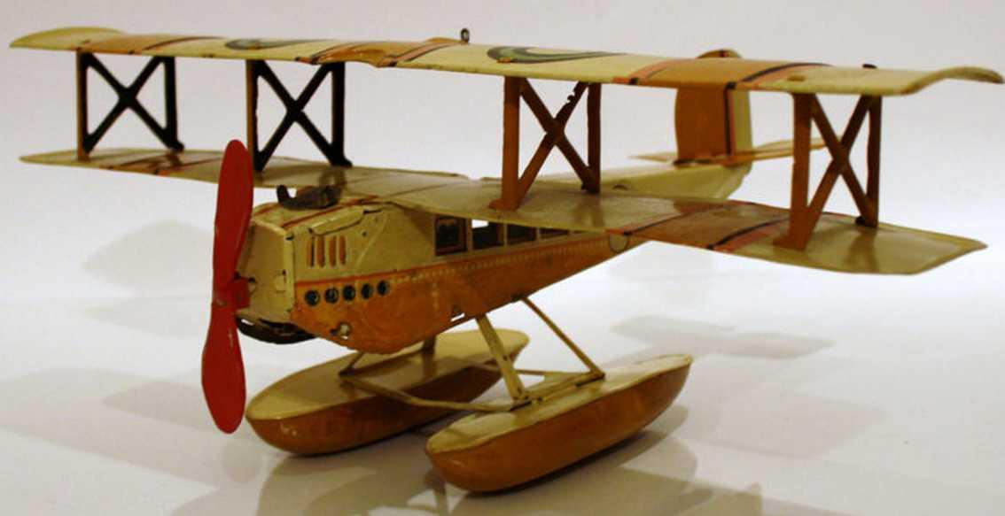 Günthermann Doppeldecker Wasserflugzeug