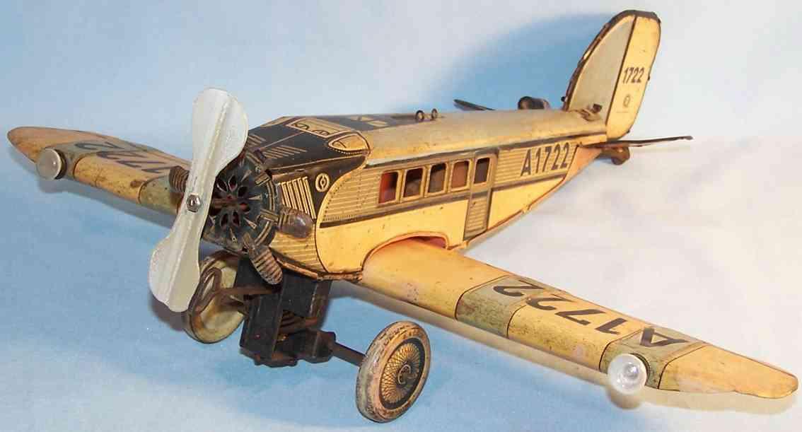 Günthermann Propellerflugzeug mit Uhrwerk A1722