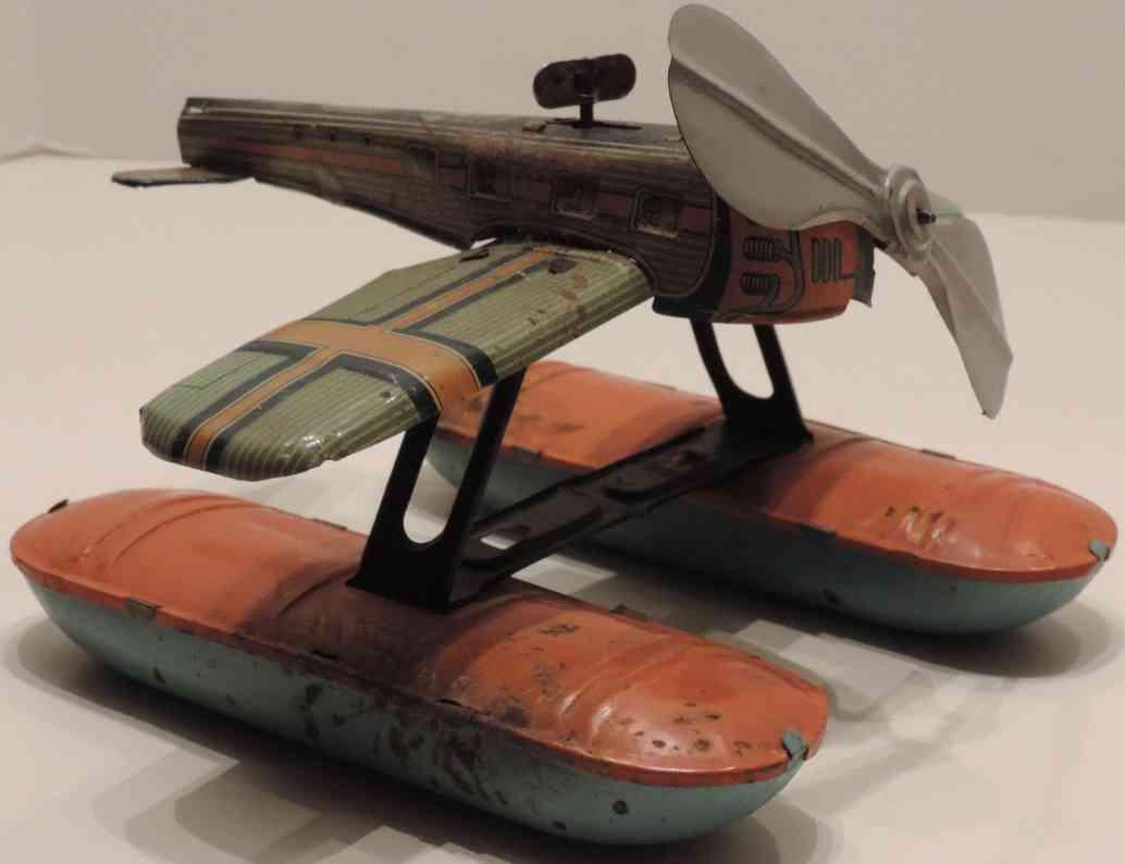 guenthermann blech spielzeug wasserflugzeug pontons