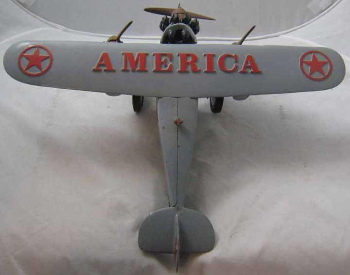 hubley cast iron toy america trimotor plane