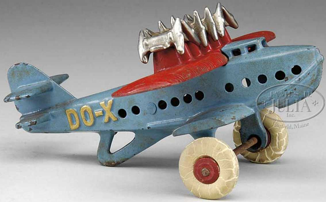Hubley Cast iron DO-X airplane