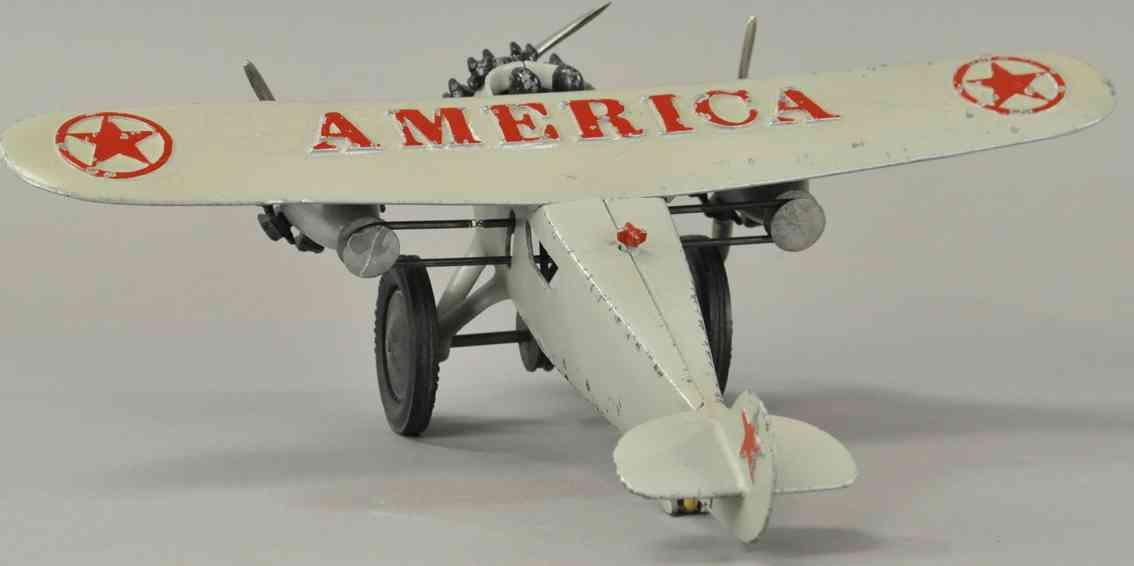 hubley spielzeug gusseisen flugzeug america