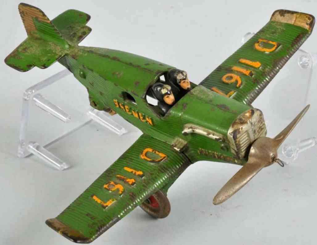 hubley bremen d1167 flugzeug aus gusseisen bremen junkers