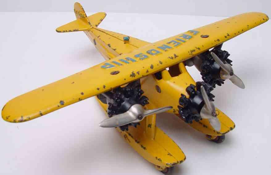 hubleyfokker wasserflugzeug nx 4204 gelb
