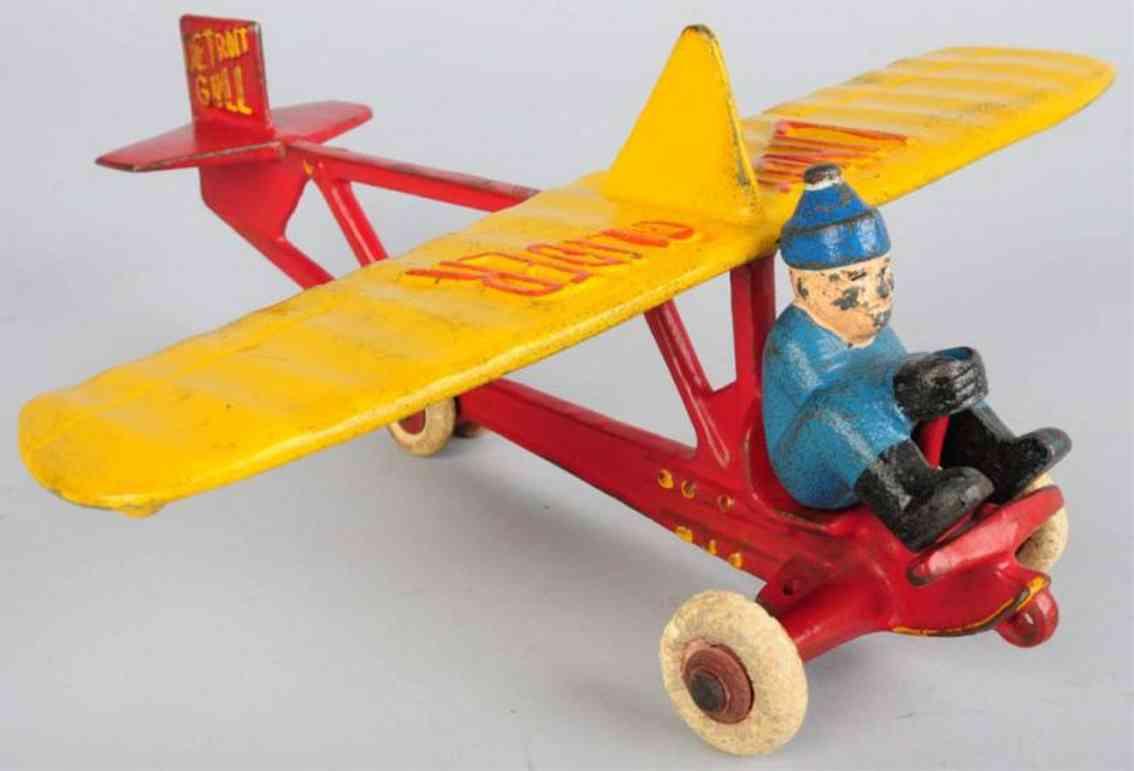 hubley spielzeug gusseisen lindy segelflugzeug